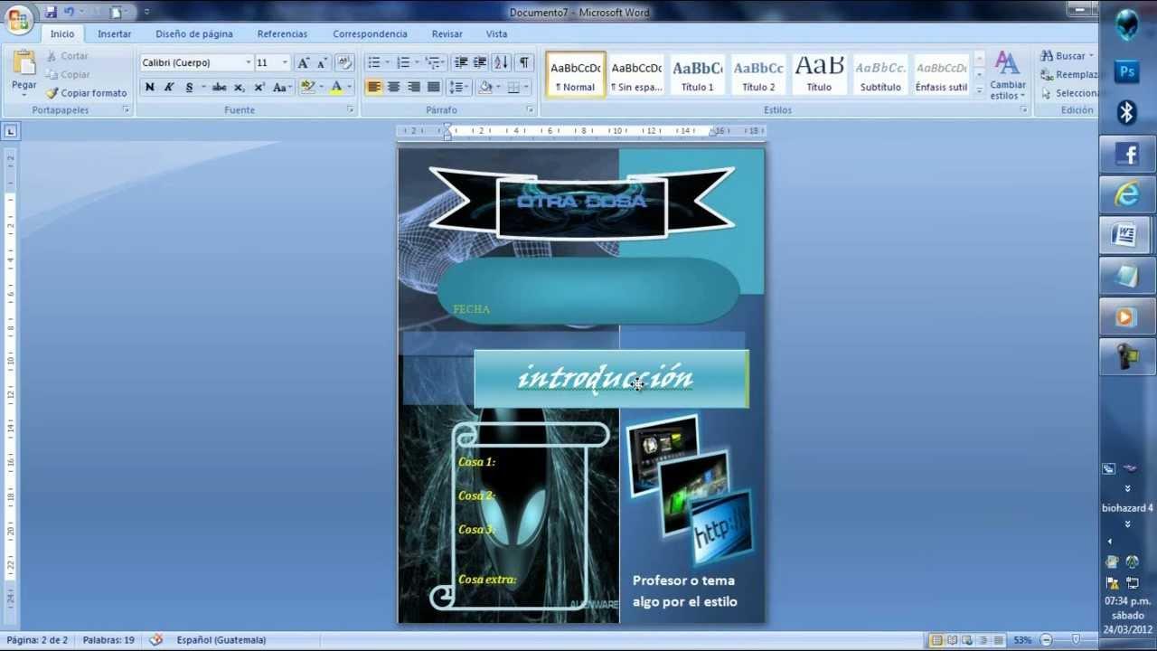 crea portadas con microsoft word bien chidas 2012 youtube