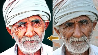 PHOTOSHOP OIL PAINTING EFFECTS TUTORIAL || DIGITAL PHOTO PAINTING || SMUDGE EFFECTS