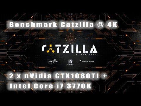 Benchmark Catzilla 4K - 2 x nVidia GeForce GTX1080TI + Intel Core i7 3770K
