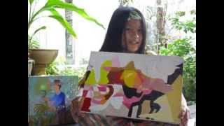 เด็กชายกุลา วาด เว้า แอนด์สปีค...Pablo Picasso painting style by Gula P.2