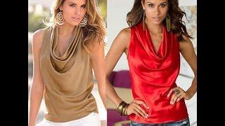 видео Женские блузки без рукавов