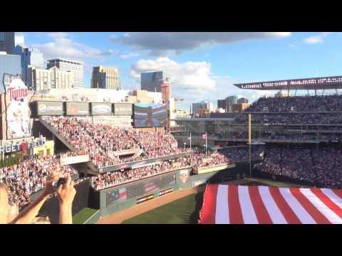 National anthem and fighter jet flyover at 2014 MLB Allstar