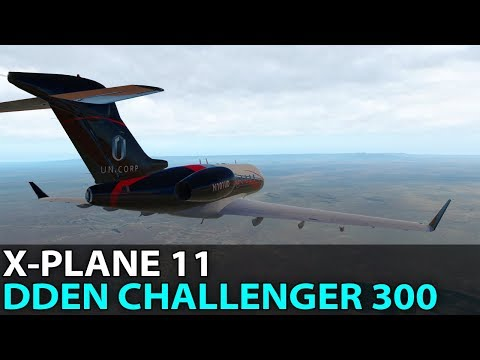 Going Everywhere, DDen Challenger 300 in X-Plane 11, PilotEdge ✈️ 2017-07-28