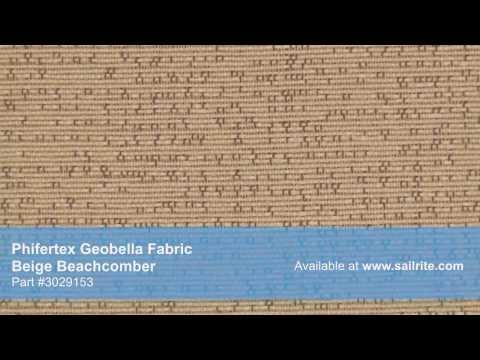 Video of Phifertex Geobella Beachcomber Beige Fabric #3029153