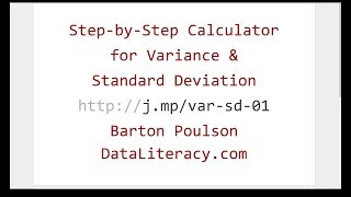 Step-by-Step Calculator for Variance and Standard Deviation