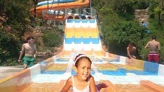 Elif Aqualand keyfi , bu aqua park daha önce gittiğimizle aynı büyüklükte , Eğlenceli çocuk videosu