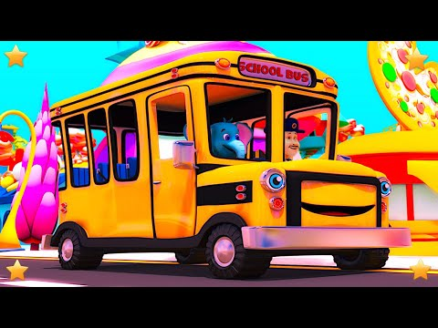 Wheels On The Bus | Kindergarten Nursery Rhymes & Songs for Kids | Little Treehouse S03E115