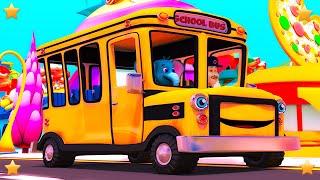 Wheels On The Bus Kindergarten Nursery Rhymes Songs for Kids