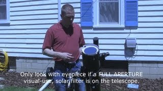How to view the Sun safely - eclipses, sunspots