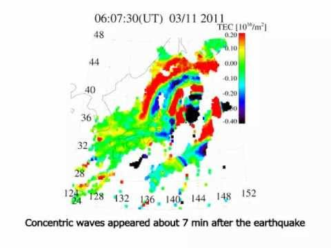 Concentric waves appear at 300 km altitude after the 2011 Tohoku earthquake