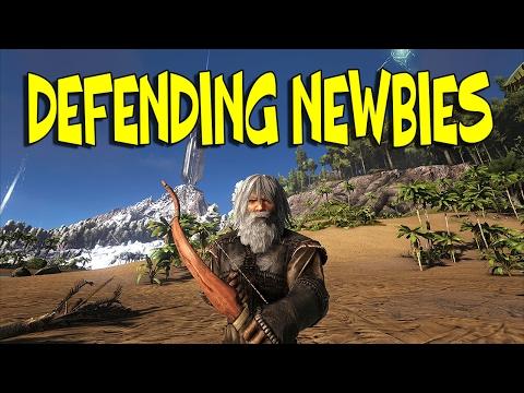DEFENDING NEWBIES (ROBIN - ARK) #1 | ARK: Survival Evolved (H.O.D's Server)