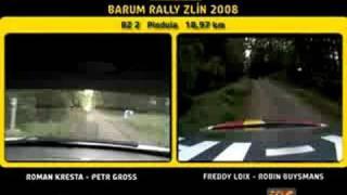 Roman Kresta VS Freddy Loix SS2 Pindula - Barum Rally 2008