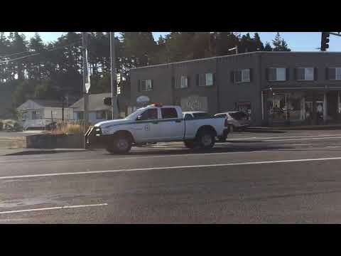 United States Forest Service law enforcement unit cruising by