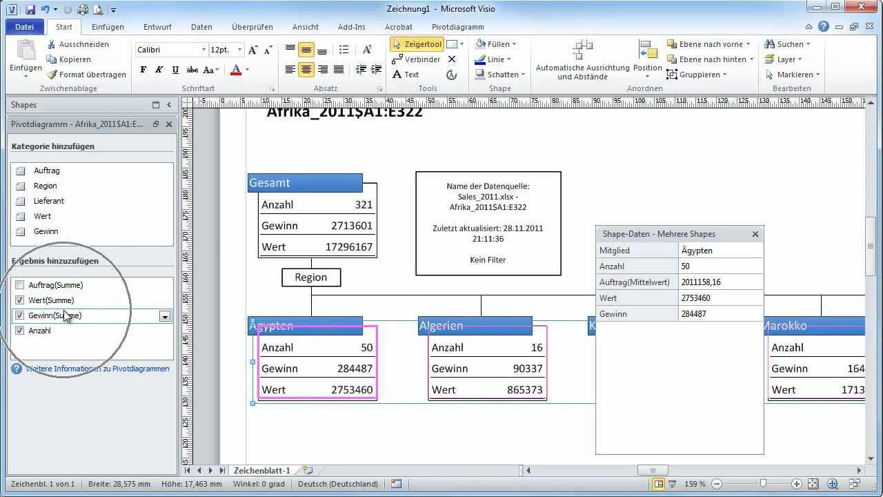 Excel-Tabellen - Teil 05 - Tabellen zu Visio 2010 exportieren - YouTube