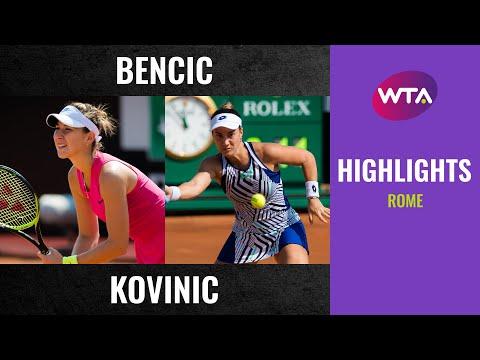 Belinda Bencic vs. Danka Kovinic | 2020 Rome Second Round | WTA Highlights