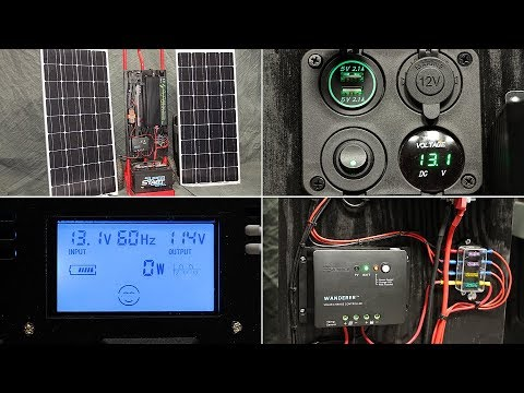DIY Off-Grid Solar Generator (rev 2) – Low-Cost Portable Power  -- with Build List