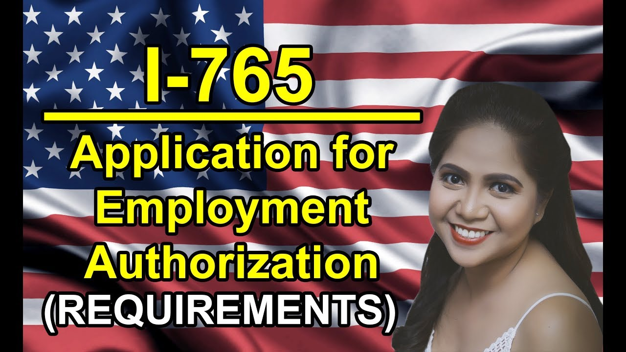 EAD: Form I-765 Application for Employment Authorization Cover ...