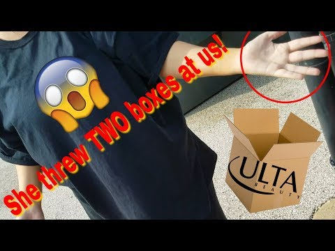 ASSAULTED BY ULTA EMPLOYEES WHILE DUMPSTER DIVING! BOXES THROWN! CAUGHT ON CAMERA! (insane...)