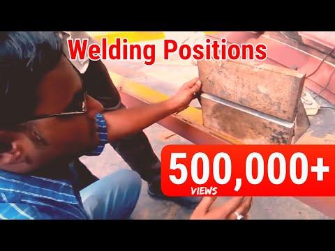 welding positions 1G, 2G, 3G, 4G