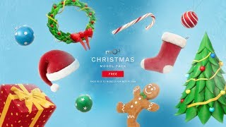 Free Christmas Model pack for mO2 FCPX & Apple Motion Plugin