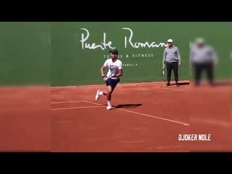 Novak Djokovic Practice with Marian Vajda - Marbella 2018 (HD)