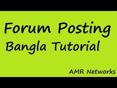 LIVE CLASS - Forum Posting tutorial in Bangla - Best Way To Post Link In Forums site