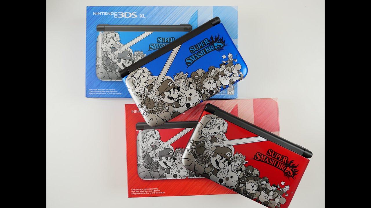 RED vs BLUE Super Smash Bros 3DS XL Console - YouTube