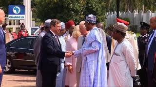 Prince Charles Meets With President Buhari At The Villa