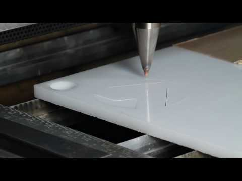 0 5 Inch White Acrylic Cut With A Vytek Co2 Laser Youtube