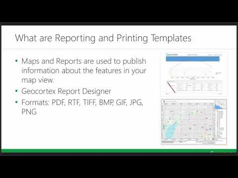 Reporting and Printing with Geocortex Essentials