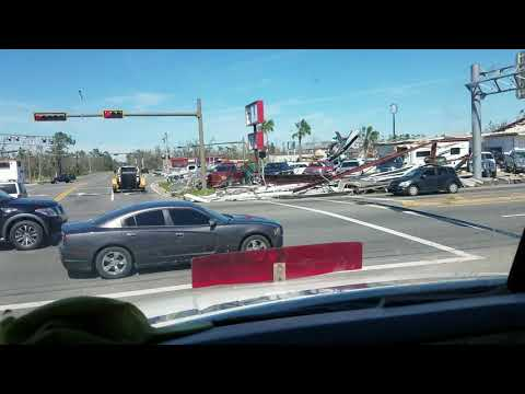 Hurricane Michael damage in Panama City