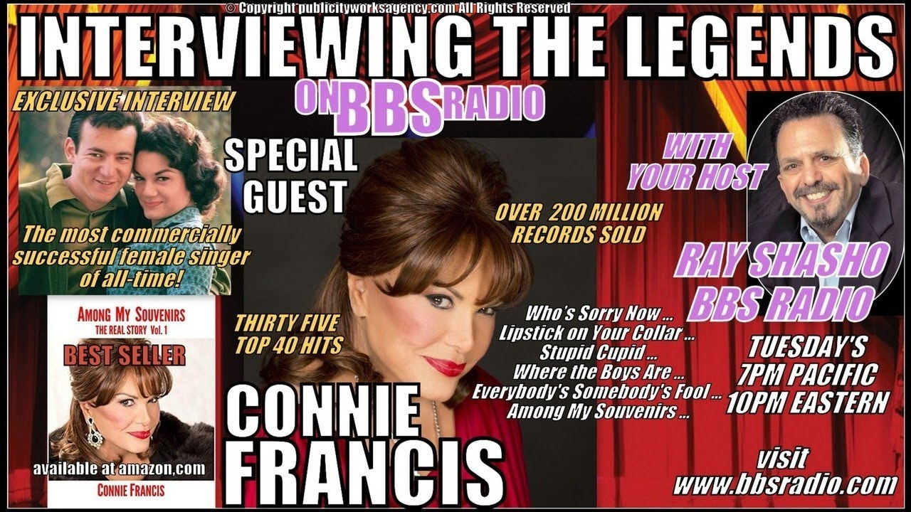 Connie Francis: Superstar of the 50's & 60's Rare Interview!