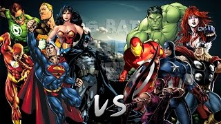 Repeat youtube video Los Vengadores vs La Liga de la Justicia. Épica Batalla Final de Rap del Frikismo | Keyblade & Otros