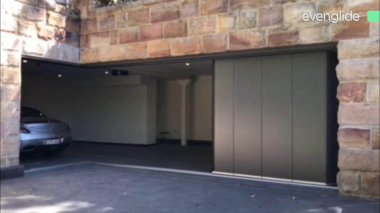 Evenglide Side Sliding Sectional Garage Door Youtube