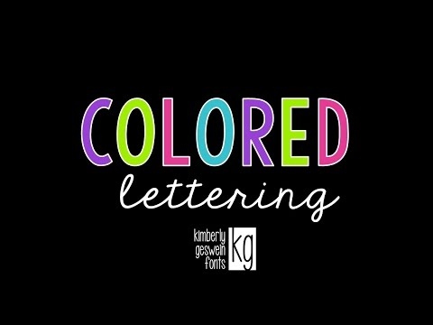 KG Fonts Tutorial: Colored Lettering in PowerPoint