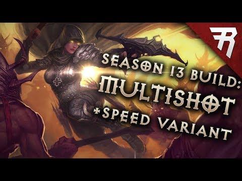 Diablo 3 Best Demon Hunter Build: Speed and GR 118+ Unhallowed Multishot (2.6.1 Season 13 Guide)
