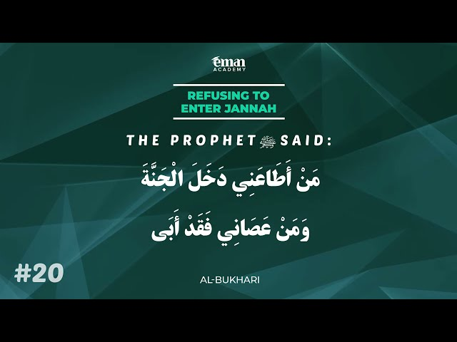 A Hadith a Day - Refusing Paradise! - Mufti Menk