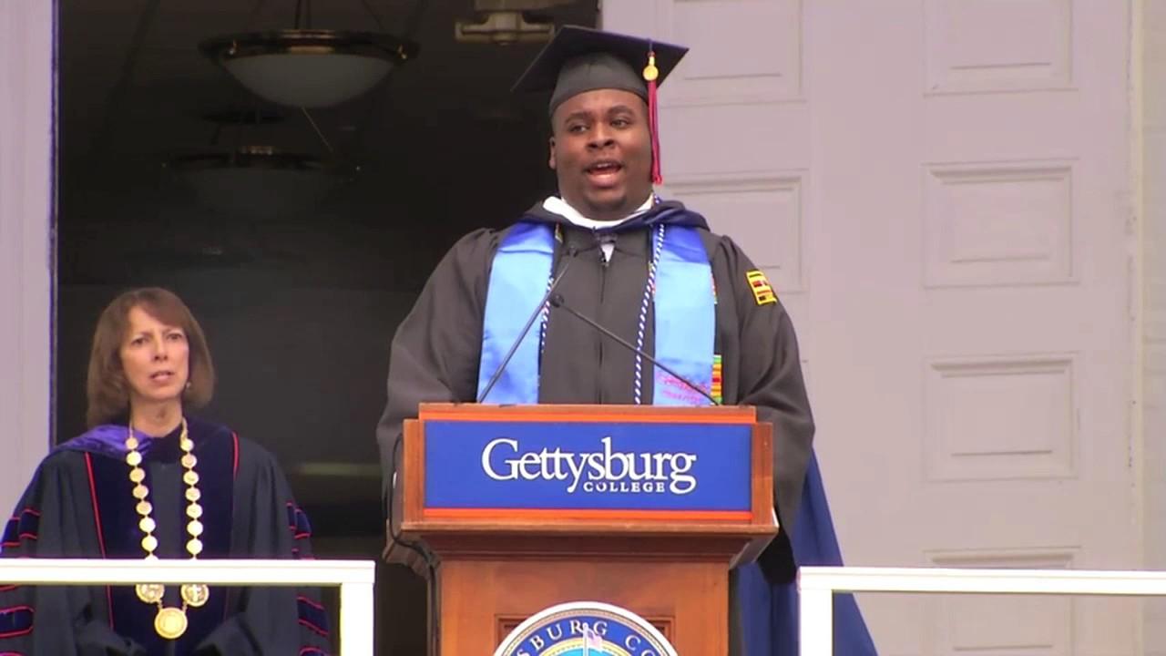 Gettysburg Graduation 2020.Jeffrey White 17 Sings The Alma Mater Commencement 2017 Gettysburg College