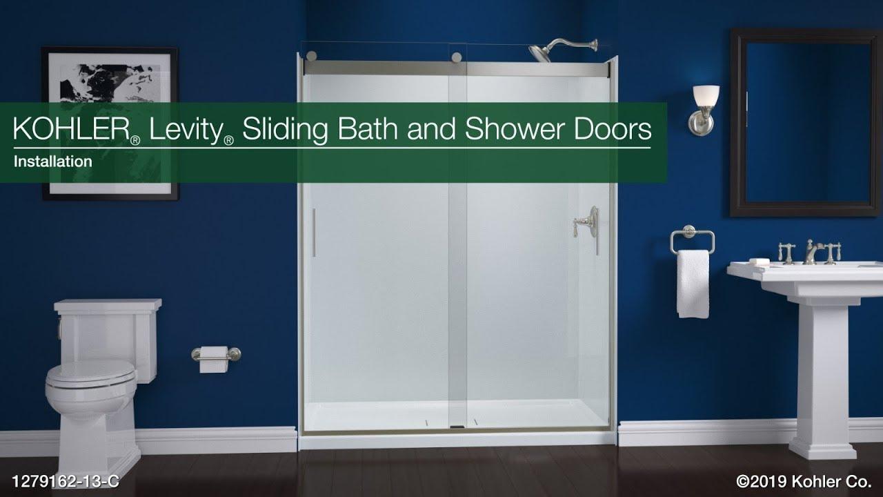 Installation Levity Sliding Bath And Shower Doors