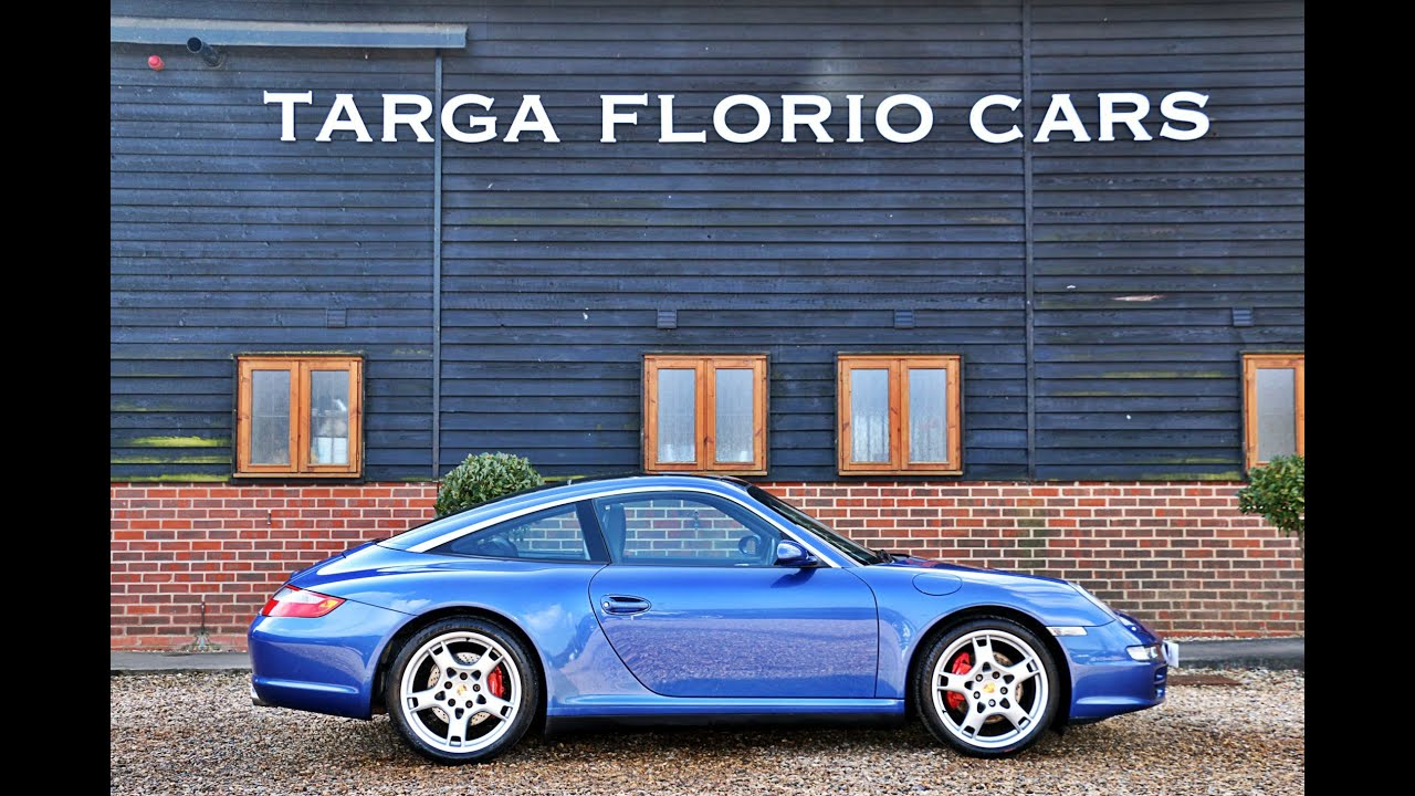 porsche 997 targa 4s 3 8l 6 speed manual in cobalt blue. Black Bedroom Furniture Sets. Home Design Ideas