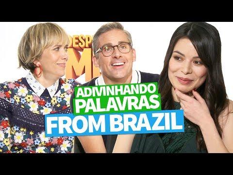 ADIVINHANDO PALAVRAS FROM BRAZIL Miranda Cosgrove, Steve Carell e Kristen Wiig