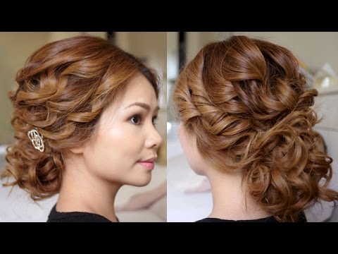 how to do hair up styles low bridal tousled updo hair tutorial 9406 | hqdefault