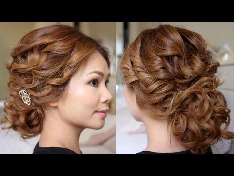 bridal tousled updo hair tutorial