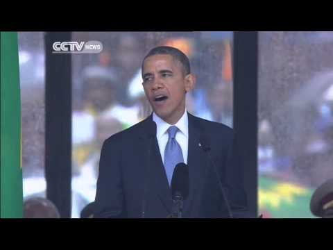 US President pays tribute to Madiba at memorial service