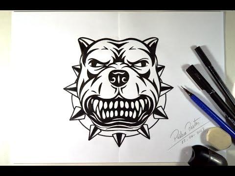 Como Desenhar Cao Pit Bull Feroz Passo A Passo Youtube