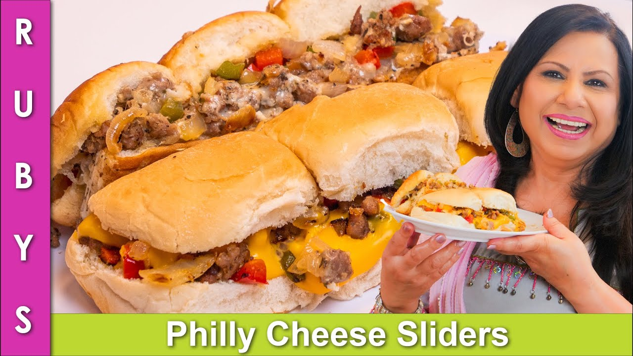 Download Philly Cheese Sliders Party & Lunchbox Idea Recipe in Urdu Hindi - RKK