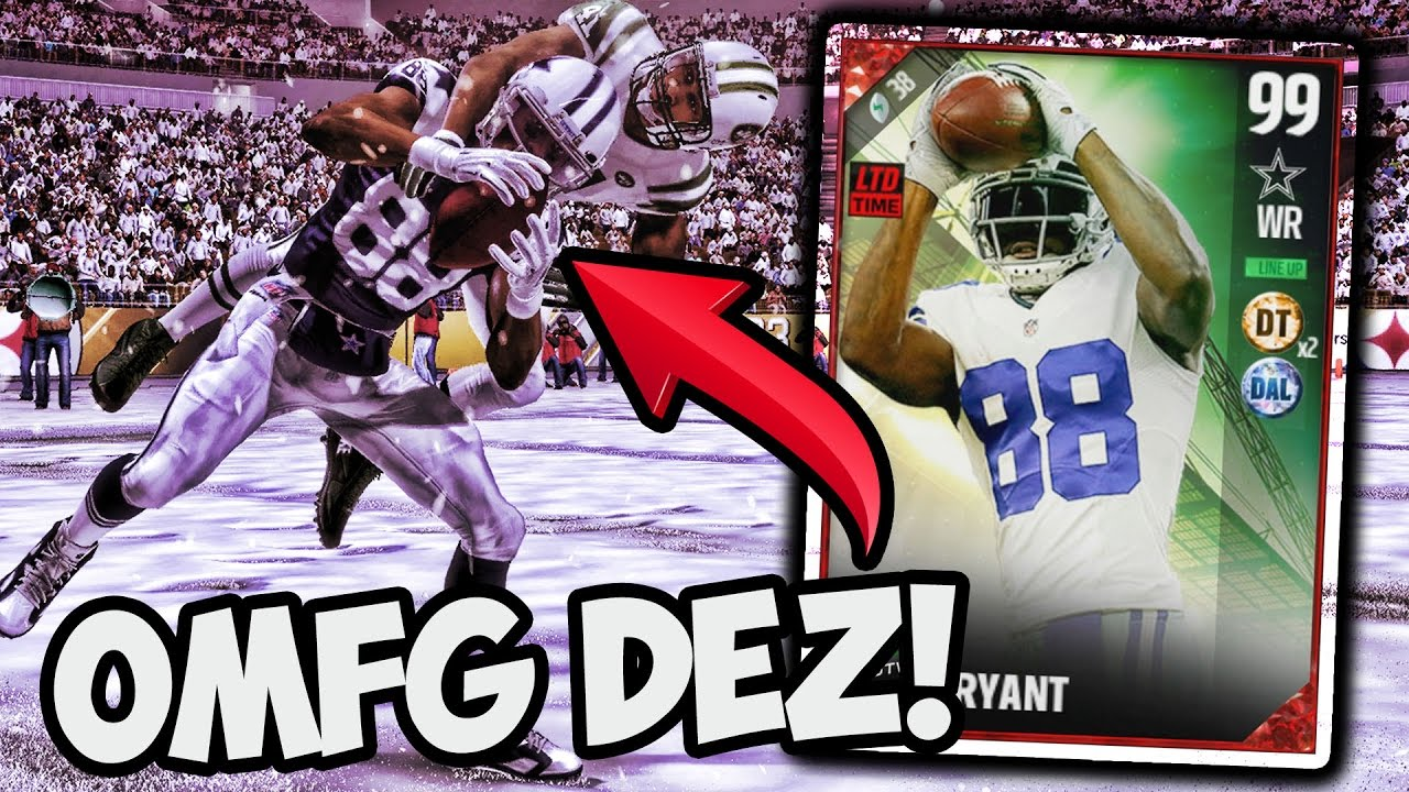 Dez Plays Like A 99 Dez Bryant Gameplay Madden 17 Ultimate Team