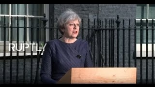LIVE  Theresa May issues statement outside 10 Downing Street