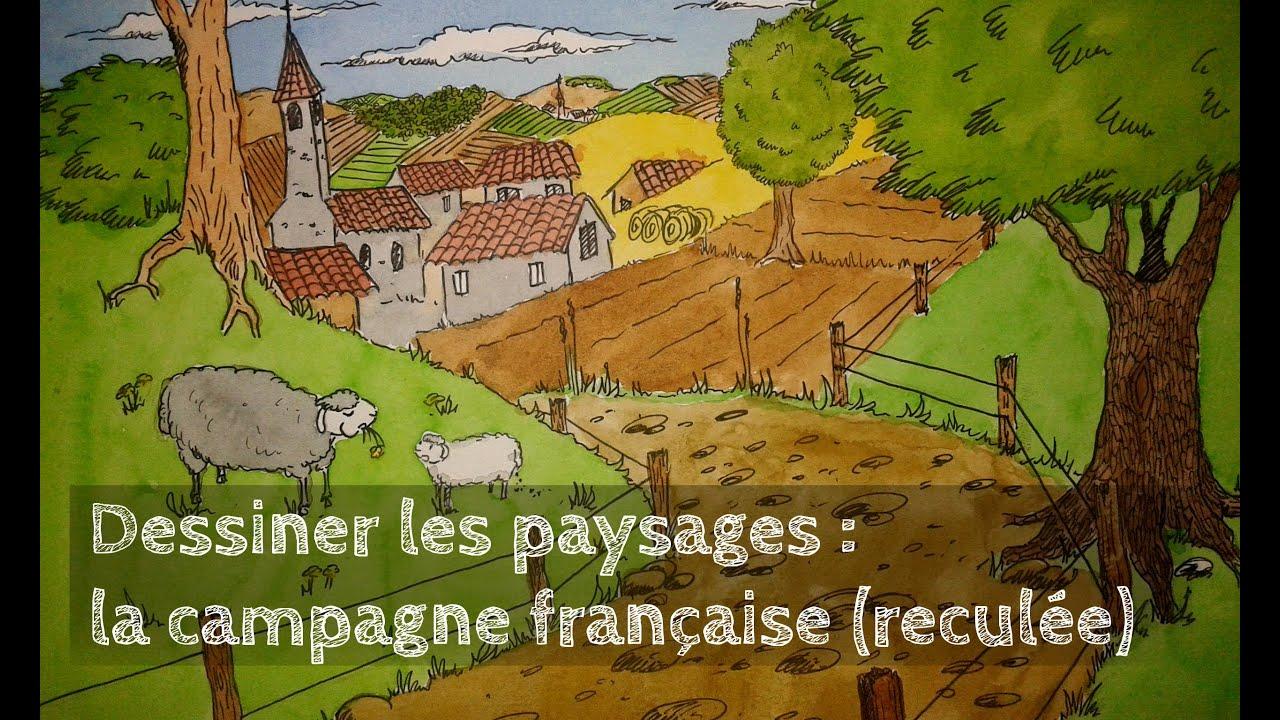 Dessiner les paysages 1 la campagne fran aise recul e - Dessiner un paysage ...