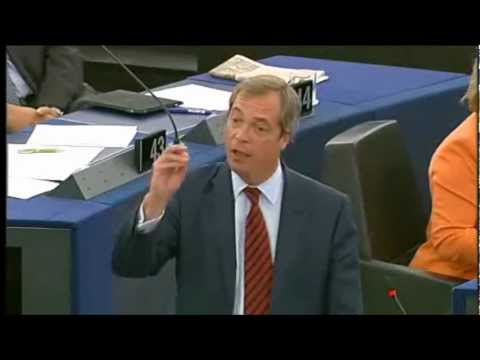 Nigel Farage takes on the Eurocrats about the meaning of democracy